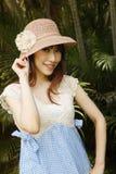 Meisje in hoed royalty-vrije stock afbeeldingen