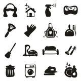 Meisje Icons Freehand Fill stock illustratie