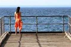 Meisje III van de pier Stock Afbeeldingen