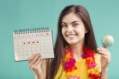 Meisje Klaar aan Vakantie stock foto's