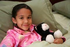 Meisje Klaar voor Bed Royalty-vrije Stock Afbeelding