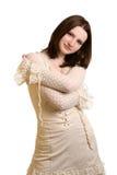 Meisje in kleding Royalty-vrije Stock Afbeeldingen