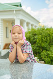 Meisje in kleding Royalty-vrije Stock Foto