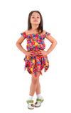 Meisje in korte kleding stock afbeelding