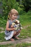 Meisje in landbouwbedrijf royalty-vrije stock foto