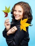 Meisje in leerjasje Royalty-vrije Stock Fotografie