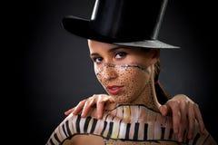 Meisje, lichaam-kunst Stock Foto's