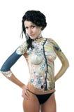 Meisje, lichaam-kunst Stock Fotografie