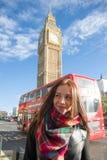Meisje in Londen Stock Afbeelding