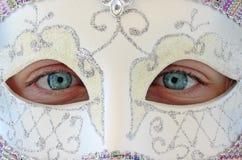 Meisje in Masker Royalty-vrije Stock Afbeeldingen