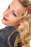 Meisje met aardbei Royalty-vrije Stock Foto