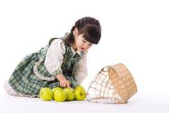 Meisje met appel Royalty-vrije Stock Afbeelding