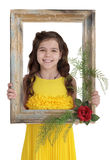 Meisje met baguette Stock Afbeelding
