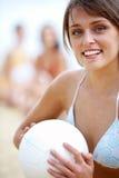 Meisje met bal royalty-vrije stock afbeeldingen