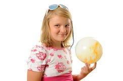 Meisje met bal Royalty-vrije Stock Foto's