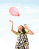 Meisje met ballon royalty-vrije stock afbeelding