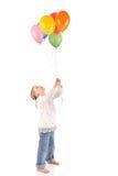 Meisje met ballons Royalty-vrije Stock Foto