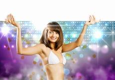 Meisje met banner Royalty-vrije Stock Fotografie