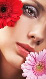 Meisje met bloem Royalty-vrije Stock Foto's