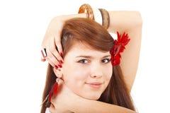 Meisje met bloem Royalty-vrije Stock Fotografie