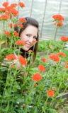 Meisje met bloem Royalty-vrije Stock Afbeelding