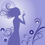 Meisje met bloem stock illustratie