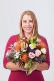 Meisje met bloemen Stock Fotografie