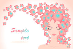 Meisje met bloemenhaar Royalty-vrije Stock Afbeelding