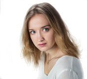 Meisje met blond haar Stock Foto