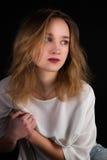 Meisje met blond haar Royalty-vrije Stock Foto