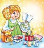 Meisje met boek royalty-vrije illustratie