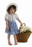 Meisje met bonnet stock afbeelding