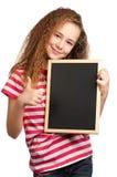 Meisje met bord Royalty-vrije Stock Fotografie