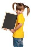 Meisje met bord Royalty-vrije Stock Afbeeldingen