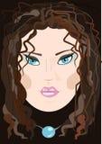 Meisje met bruine haren Royalty-vrije Stock Afbeeldingen