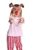Meisje met clownneus Royalty-vrije Stock Fotografie