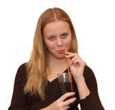 Meisje met cocktail Royalty-vrije Stock Afbeelding