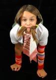 Meisje met de bakkebaarden stock afbeelding