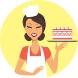 Meisje met de Cake van de Verjaardag Royalty-vrije Stock Foto
