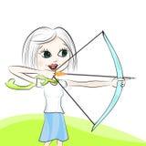 Meisje met de kruisboog vector illustratie