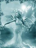 Meisje met de vleugels Royalty-vrije Stock Afbeeldingen
