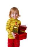 Meisje met doos Royalty-vrije Stock Foto