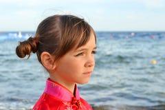 Meisje met droevige blikken Royalty-vrije Stock Foto