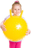 Meisje met een bal Royalty-vrije Stock Fotografie