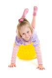 Meisje met een bal Stock Foto
