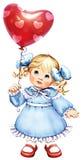 Meisje met een bal Stock Fotografie