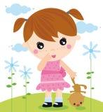 Meisje met een beer Stock Fotografie