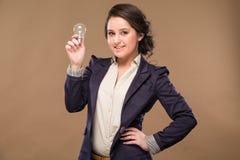 Meisje met een bol Royalty-vrije Stock Fotografie