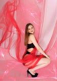 Meisje met een doek royalty-vrije stock foto's