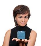 Meisje met een gift Royalty-vrije Stock Foto's